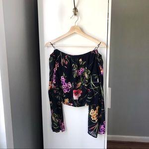 ASTR floral printed off the shoulder blouse